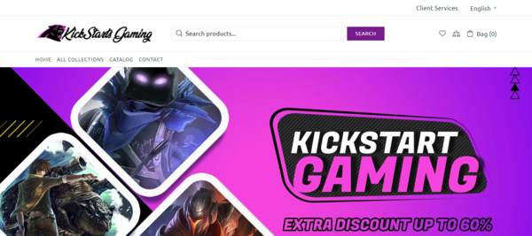 KickstartsGaming.com - Automated game products dropship website | Suppliers Integrated