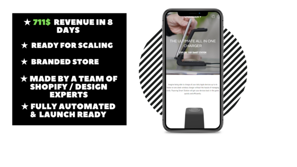 Chargien - Branded Ecommerce Store With Clean & Modern Design Made By Professional Webdesign team. $711 Revenue Generated In 8 Days. Everything Is Automated.