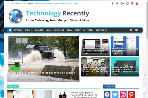 TechnologyRecently.com - Technology & Gadgets News - Killer Design - 100% Automated - 1 Extra site Or 1 Year free Hosting for BIN + Bonuses - Amazon & Clickbank Income.