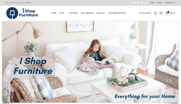 ishopfurniture.com - Automated Store, SEO Backlinks $4,500/Mo Potential, 19-years Domain -NO RESERVE!