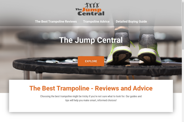thejumpcentral.com - Trampolines | Content Site | Affiliate Marketing, Ads & More!