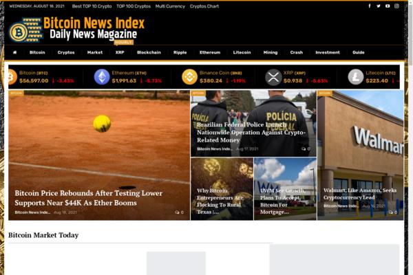 BitcoinNewsIndex.com - Automated Crypto Coin Bitcoin News Blog