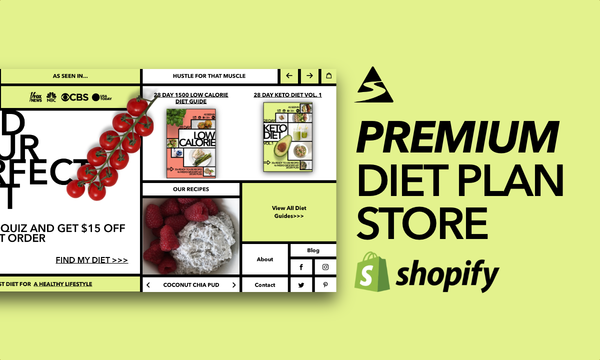 WhichDietGuide.com - Password: 1234   NEW PREMIUM Diet Plan Shopify Store For Sale By Startup Streams