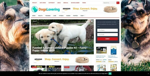 DogsLovering.com - Automated Dogs Niche Blog To Make Money Online from Amazon Affiliate Program