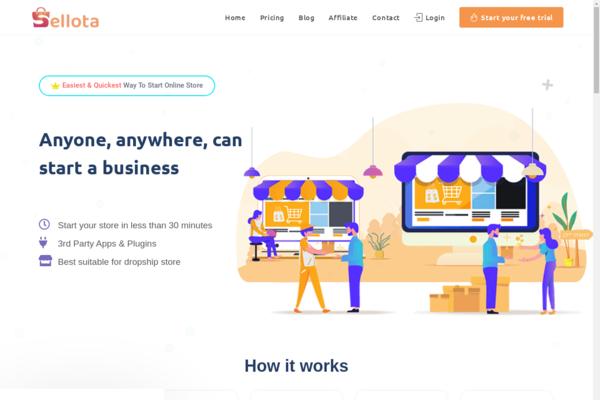 sellota.com - Sellota.com - Turnkey SaaS Business like Shopify by WordPress & Woocommerce