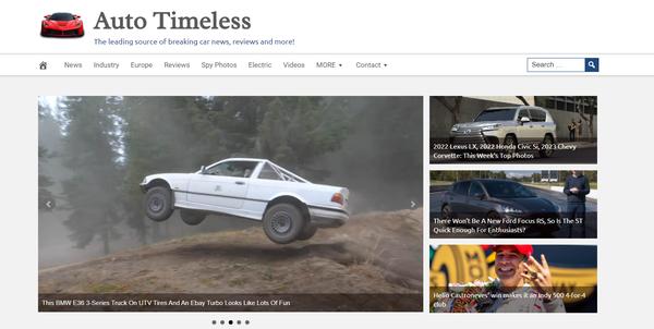 AutoTimeless.com - Premium Design AUTOMOTIVE / CAR News Site, 100% Automated, BIN Bonuses