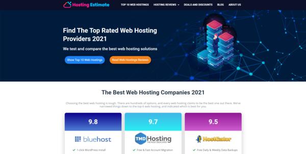 HostingEstimate.com - Hosting Affiliate Site To Make Money Online, Earn Up To $10k/Month
