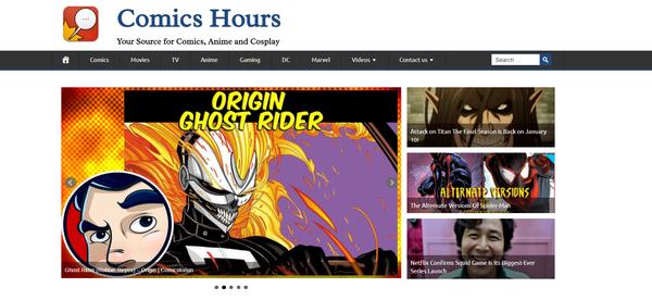 ComicsHours.com - Hot Niche COMIC & ANIME, 100% Automated, Ad Income + BIN Bonus