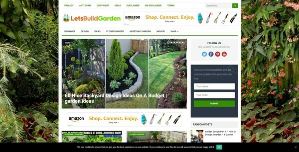 LetsBuildGarden.com - 100% Autopilot & Automated Gardening Niche Site To Make Money Online From Amazon Ads, Affiliate Links - 200 Amazon Products Imported