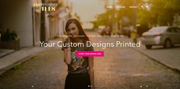 EasyPrintedTees.com - Shopify Dropship On Demand Print Store, Premium Domain worth $973,US/EU supplier