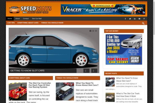 speedwayslotcars - Tap Into The MultiBillion Automobiles niche With Your Own Ready-to-Go slot Cars website