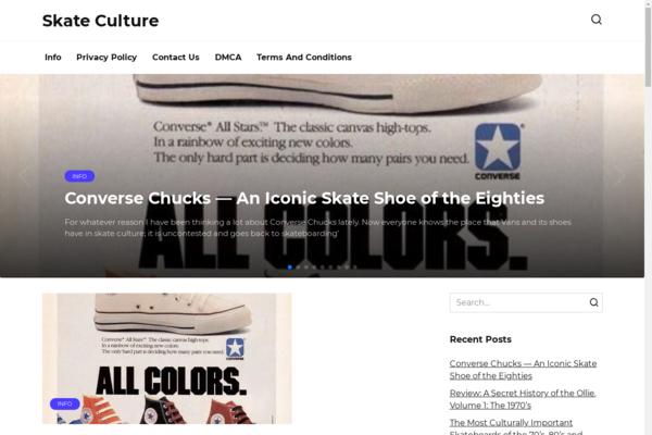 skateculture.info - Sports, skate site. Made with WordPress. Organic traffic