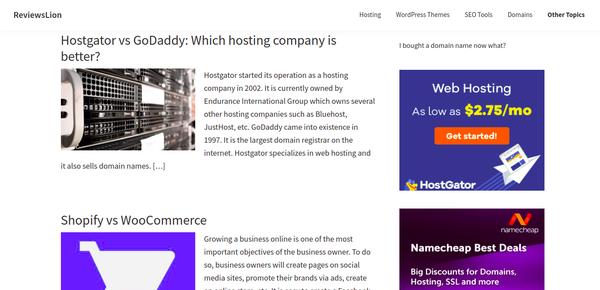 reviewslion.com - Advertising / Internet
