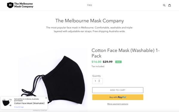 melbournemask.co - e-Commerce / Health and Beauty