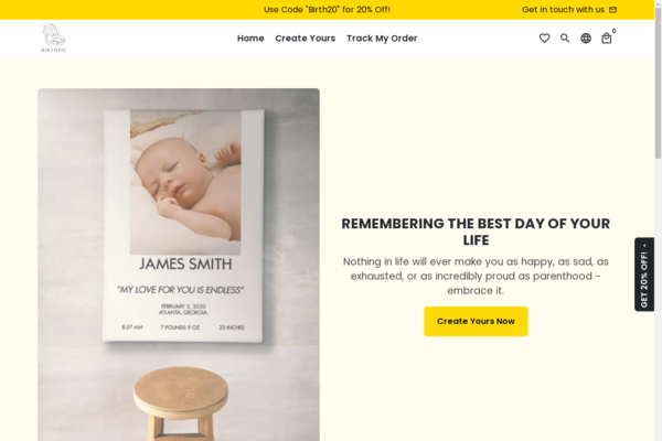 birthpic.com - Perfect Gift Giving Business   100% Unique Product   Business Plan Included  