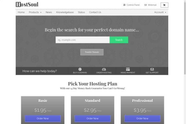 HostSoul.com - Start your own hosting & domains online business!