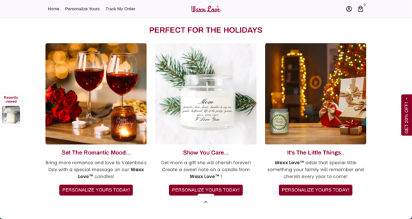 waxxlove.com - Perfect Gift Giving Business   100% Unique Product   Business Plan Included  