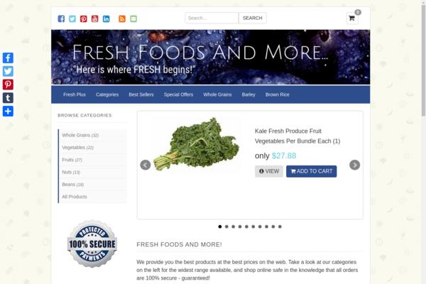 """freshfoodsandmore.com - """"Here is where FRESH begins!"""""""