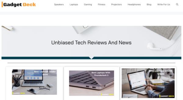 thegadgetdeck.com - Advertising / Electronics