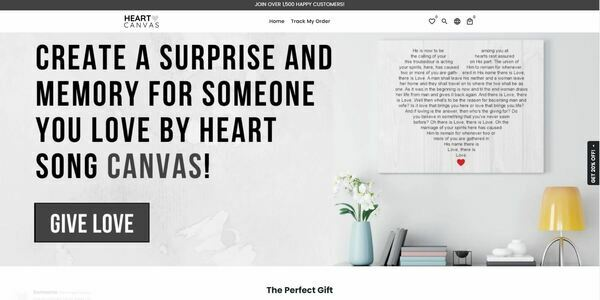 heartsongcanvas.com - Custom Canvas Gift Shopify Store| 100% Unique Product | $807 Domain Value