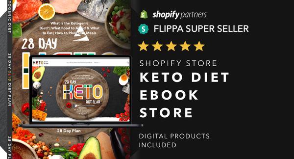 KetoPlanningTips.com - Password: 1234 | Keto Diet Niche Ebook Shopify Store For Sale Startup Streams