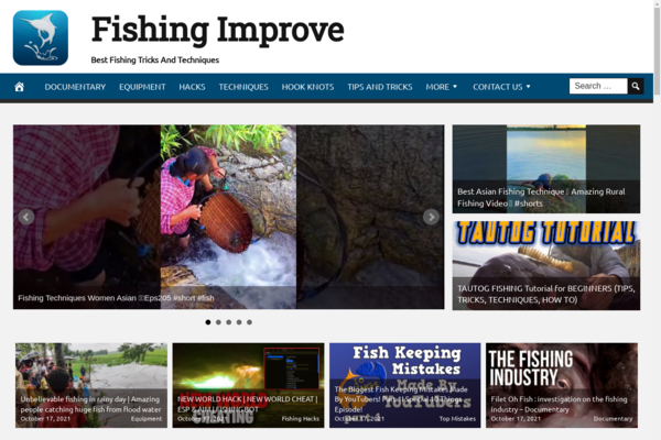 FishingImprove.com - Fishing Website, Premium Design, Fully Automated, BIN Hosting Bonus