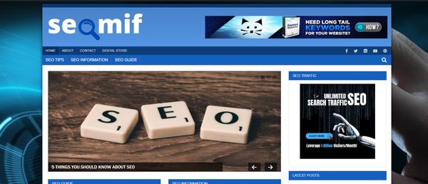 seomif.com - SEO Blog with Unique Content 12,000 + Words. Get Organic Traffic