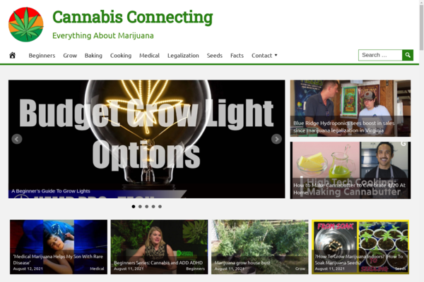 CannabisConnecting.com - Fully Automated Cannabis Website - 1 Year Free Hosting BIN + Great Bonuses