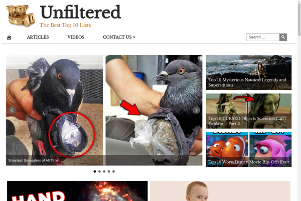 Top10Unfiltered.com - Top 10 Lists with Videos - Automated Premium Design- BIN Bonuses
