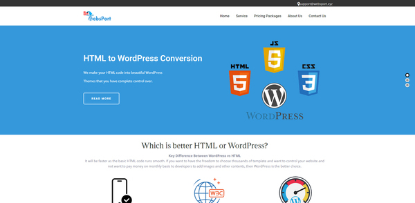 websport.xyz - # Monthly Net Profit $750usd|HTML to WordPress Design Service Selling Business #