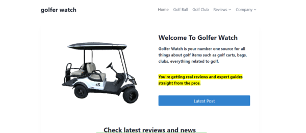 golferwatch.com - Advertising / Sports and Outdoor