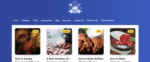 LearnGrill.com - This is a website that I built in July 2020 and it has 42 articles already published and I have 28 more articles ready to publish that I will give to the buyer.