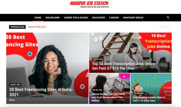 manipurjobstation.com - Advertising / Education