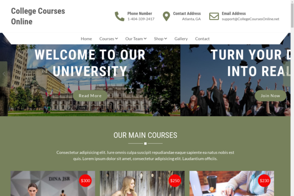 collegecourse.online - College Course Online | Searched Over 100,000 Times Per Month | Starts @ $1