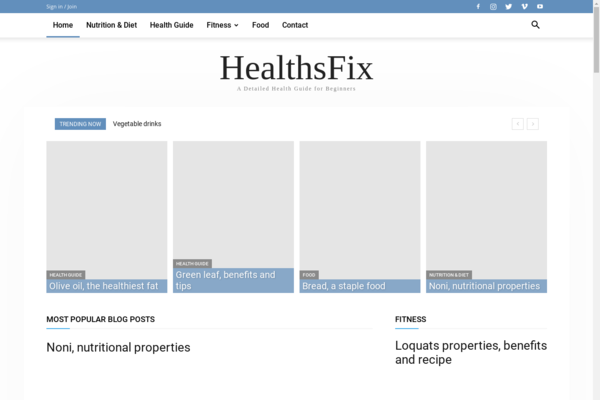 healthsfix.com - HealthsFix- Health Guide for Beginners