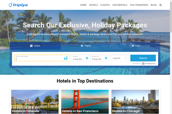 triplya.com - Automated Premium Travel Affiliate Site - Unlimited Potential Income Opportunity