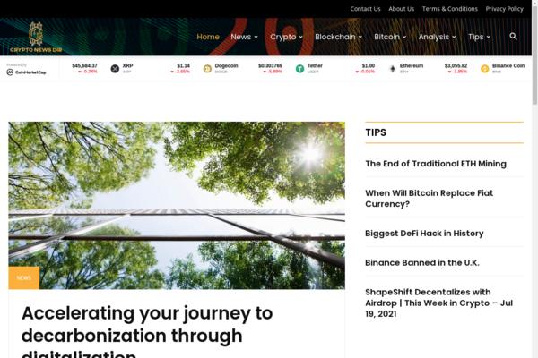 cryptonewsdir.com - 100% Automated, Premium Design, Hot Niche  Cryptocurrency News Site