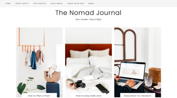 The Nomad Journal (LOW PRICE) - Travel blog with a 11-month-old domain. High quality content with high-end aesthetic. Affordable price for quick buyer.