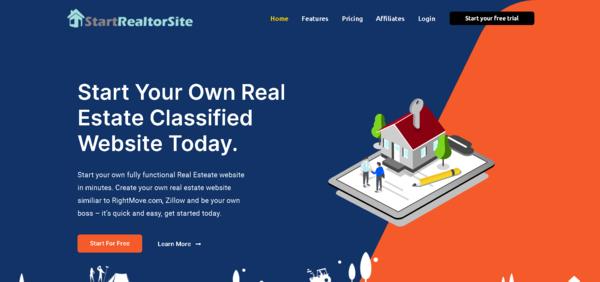 StartRealtorSite.com - Turnkey WaaS Business Providing Real-estate classified website in a minute