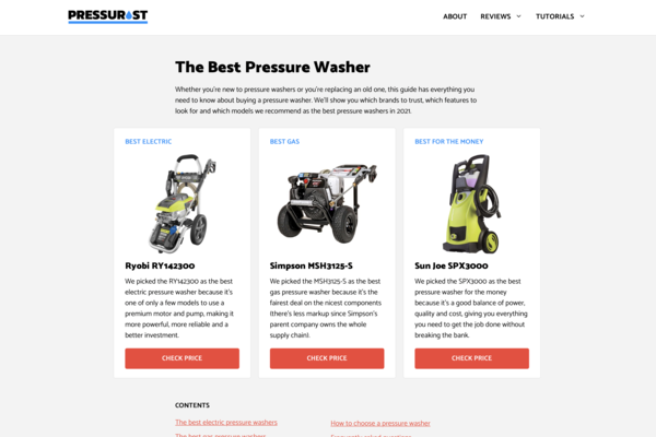 pressurist.com - Small product review website with HUGE potential (see description).