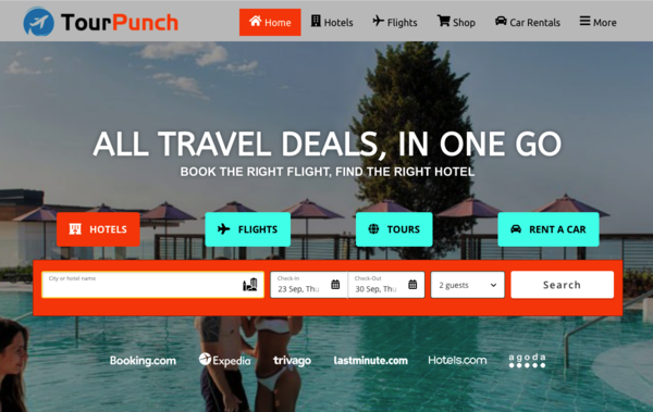 TourPunch.com - Automated Travel Website, Earn Up To $10k/Mon On Flights, Hotels & Trip bookings
