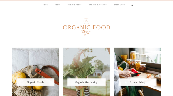 Organic Foods Tips - Done-for-you organic food & green living niche blog with 42 high quality, well-written articles and aesthetic designs. Affordable price for beginner!