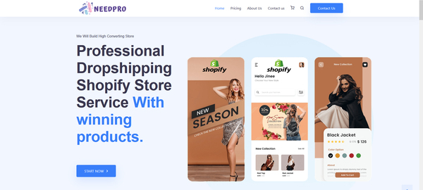 https://needpro.co/ - Beginner friendly 6 month old Shopify Dropshiping  website selling service business made $8.6k+