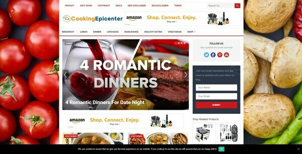 CookingEpicenter.com - Automated Cooking Niche Blog To Make Money Online from Amazon Affiliate Program