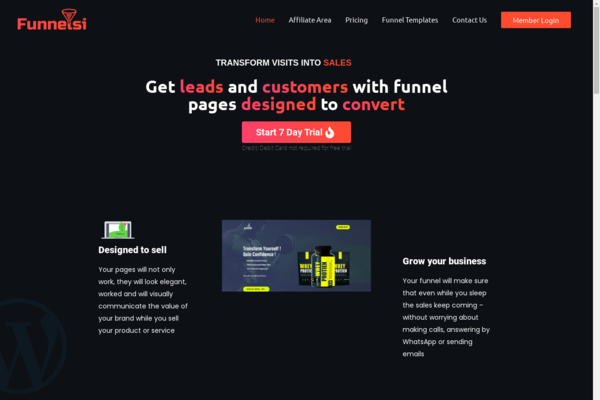 funnelsi.com - Start your own Business - Sales Funnel Page SaaS Business website. BUYBACK 2x