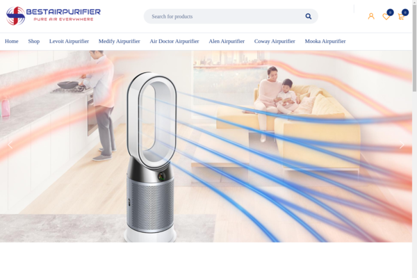 bestairpurifier.online - Micro Niche Website Based on Air Purifier | Monetized with Amazon | USA Targeted
