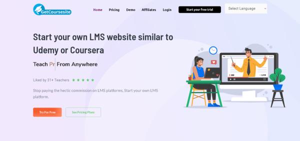 GetCourseSite.com - GetCourseSite.com - Turnkey SaaS Business offering similar to Udemy Skill-Share