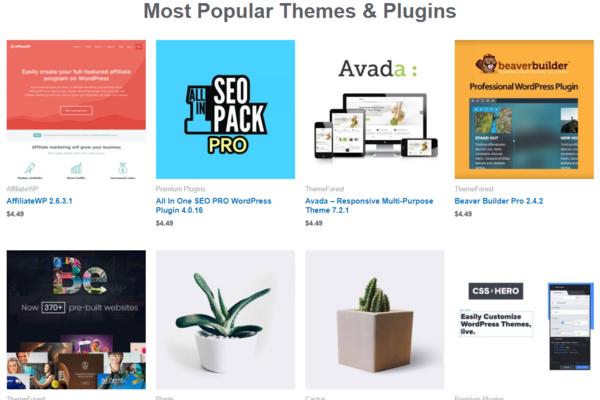 gplscout.com - GPL WordPress themes and plugins shop site
