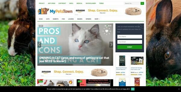 MyPetsTown.com - Autopilot Pet Niche Blog To Make Money Online from Amazon Affiliate Program