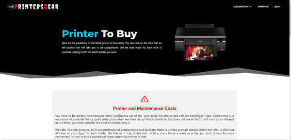printersgear.com - Thriving Electronic Niche Blog With Consistent Income From Organic Traffic